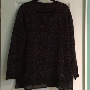 Brand new black and white sweater from Lane Bryant